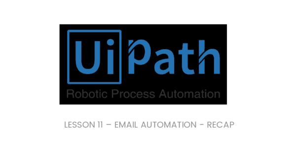 PDF) LESSON 11 – EMAIL AUTOMATION -RECAP | Sunil Bobba - Academia edu