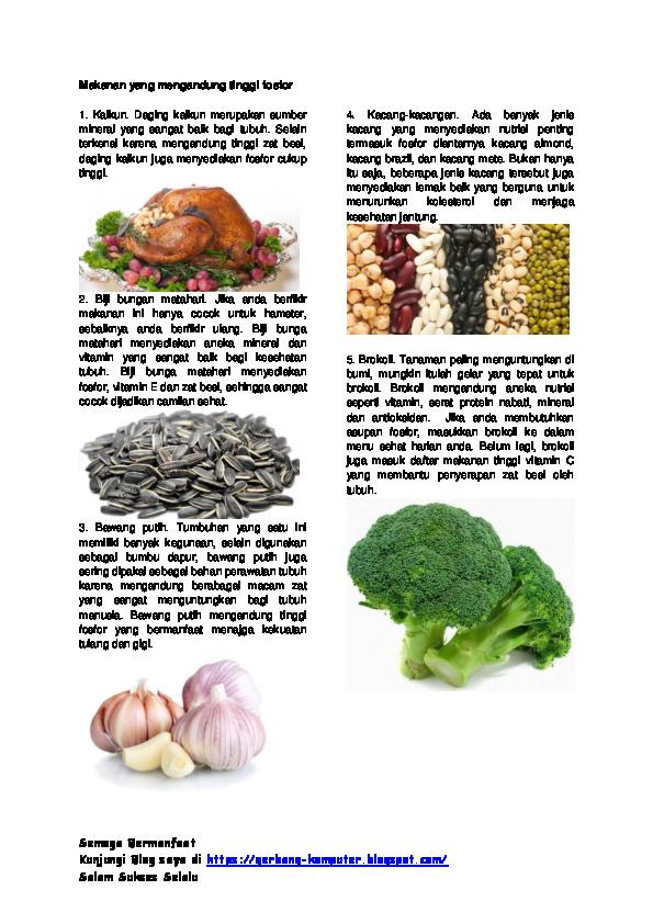 Doc Makanan Yang Mengandung Tinggi Fosfor Rahmat Hidayatullah