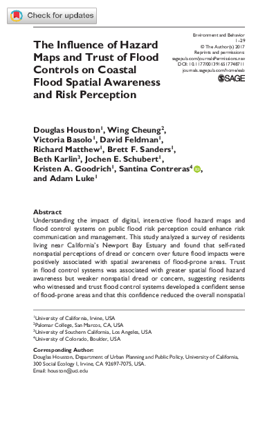 PDF) The Influence of Hazard Maps and Trust of Flood