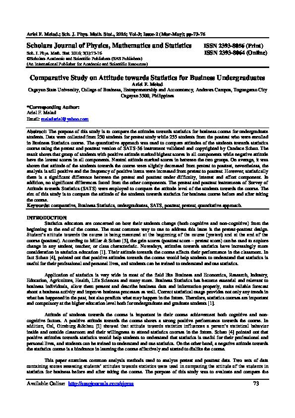 PDF) Scholars Journal of Physics, Mathematics and Statistics ISSN