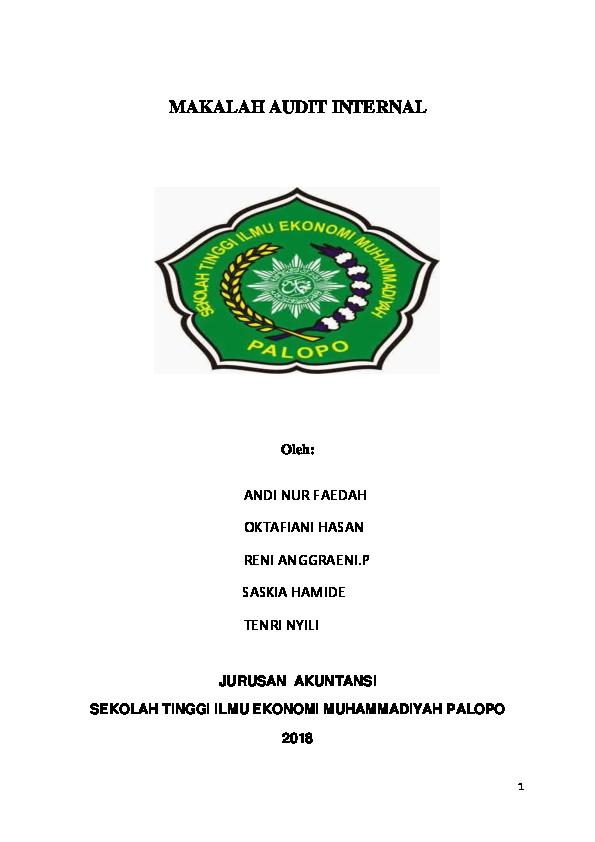 Doc Makalah Audit Internal Oktafiani Hasan Academia Edu