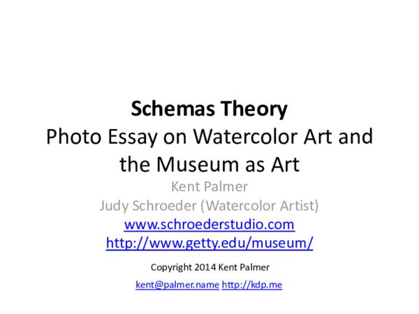Schemas Theory Photo Essay | Kent Palmer - Academia edu