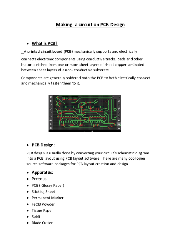 DOC) Making a circuit on PCB Design | Aimal Hassan