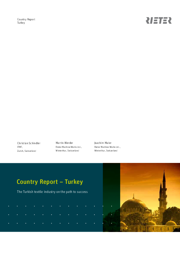 PDF) Country Report – Turkey The Turkish textile industry on
