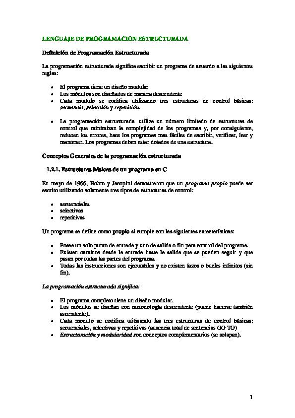 Pdf Lenguaje De Programacion Estructurada Alan Arizpe