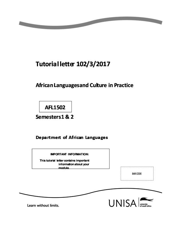 DOC) AFL1502+Tutorial+letter+102+   londiwe ngwenya