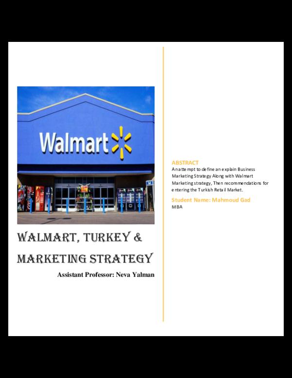 PDF) WalMart | Morgan Gad - Academia edu