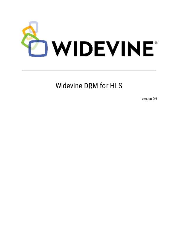 PDF) Widevine DRM for HLS | Check Check - Academia edu