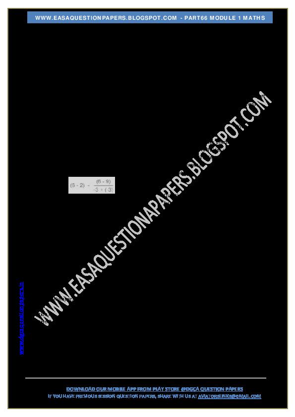PDF) DGCA MODULE 1 MATHS - | mohd hwaitat - Academia edu