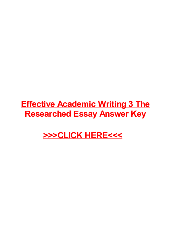 Effective Academic Writing 3 Download Free
