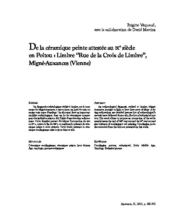 Céramique de datation de radiocarbone
