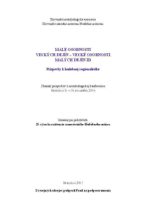 13dc14557 PDF) Ján Labant –pokračovateľ žilinskej gitarovej tradície, p 314 ...
