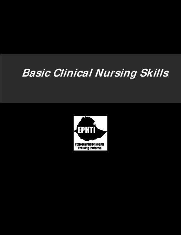 PDF) LECTURE NOTES Basic Clinical Nursing Skills | olisekwu