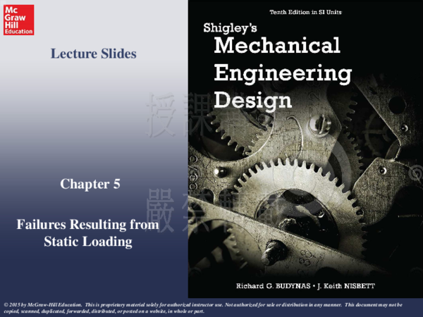 Pdf Chapter 5 Failures Resulting From Static Loading Lecture Slides 俊杰 滕 Academia Edu