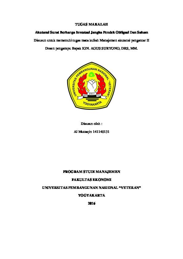 Doc Tugas Makalah Al Muttaqin Academiaedu