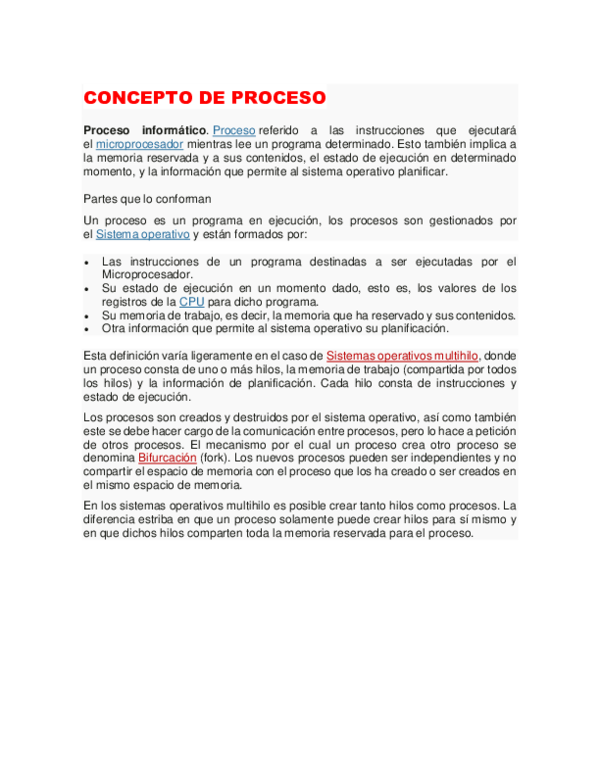 DOC) CONCEPTO DE PROCESO   Josue Palacios - Academia edu