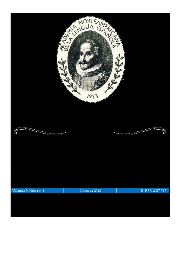 Glosas Vol 9 N 4 Ma Rzo 2018 Academia Norteamericana De
