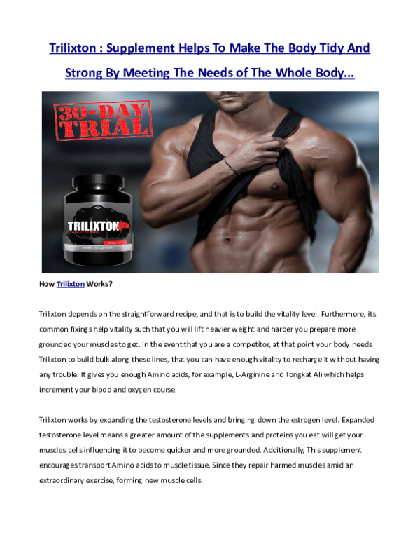PDF) Trilixton : Supplement Helps To Make The Body Tidy And