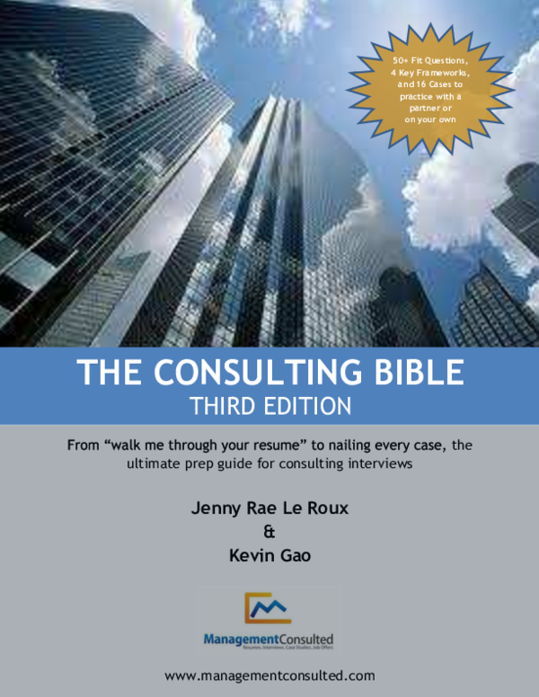 PDF) the ultimate prep guide for consulting interviews THE
