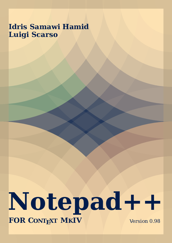 PDF) Notepad++ For ConTeXt MkIV: Lexer and Macro Utilities