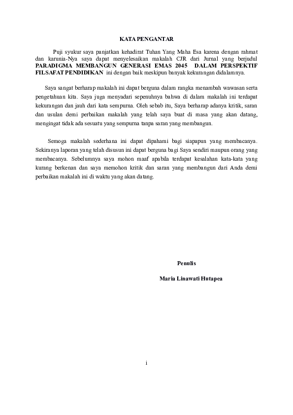 Doc Cjr Filsafat Pendidikan Maria Linawati Academia Edu
