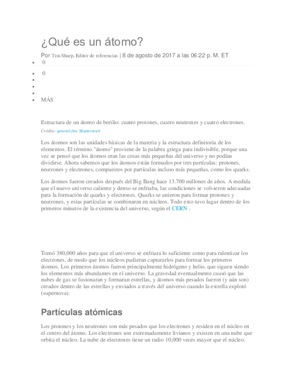 Doc Qué Es Un átomo Orlando Castellano Academia Edu