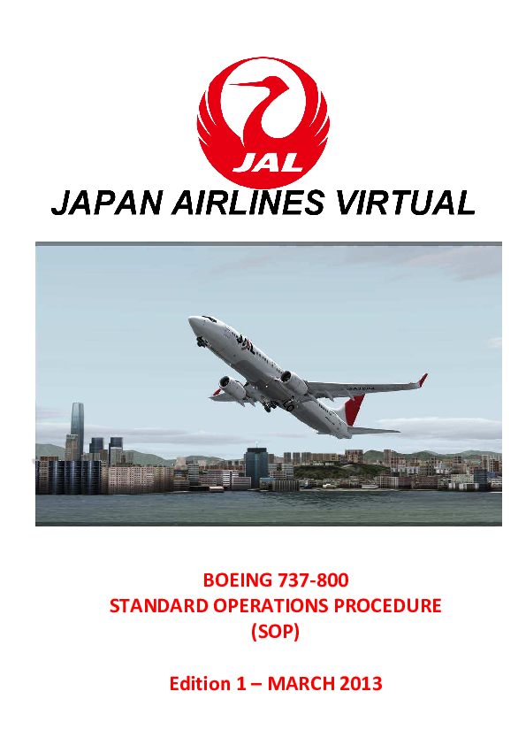 PDF) BOEING 737-800 STANDARD OPERATIONS PROCEDURE (SOP | Alex Meier