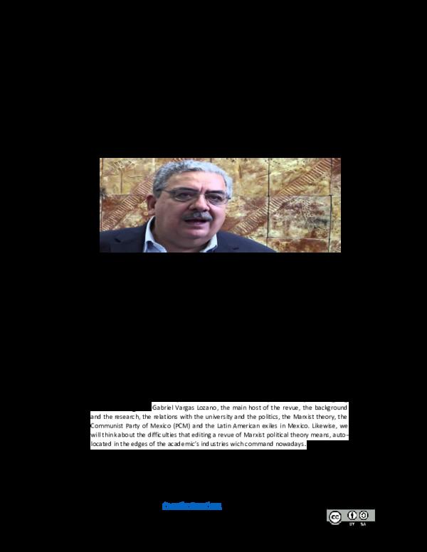 Pdf Marxismo Politica Y Universidad O La Experiencia De La Revista Dialectica 1976 2015 Entrevista A Gabriel Vargas Lozano Diego Martin Giller Academia Edu