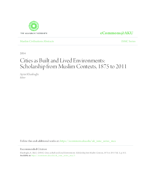 Cities As Built And Lived Environments Scholarship From Muslim