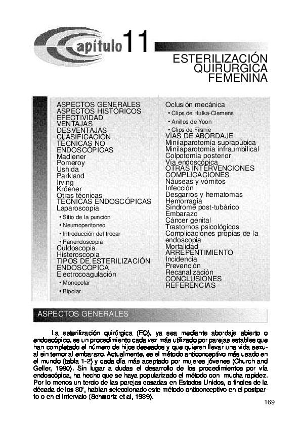 tecnicas de ligadura de trompas pdf