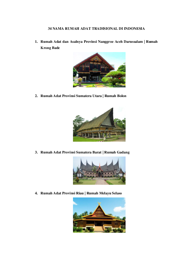 80 Gambar Rumah Adat Tradisional Dan Asalnya HD Terbaru