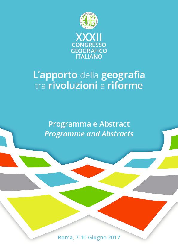 8858400a9eaf PDF) XXXII CONGRESSO GEOGRAFICO ITALIANO - L apporto della geografa ...