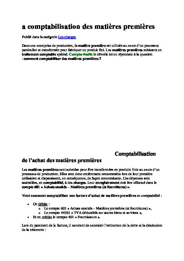 COMPTABILITE DES ENTREPRISES