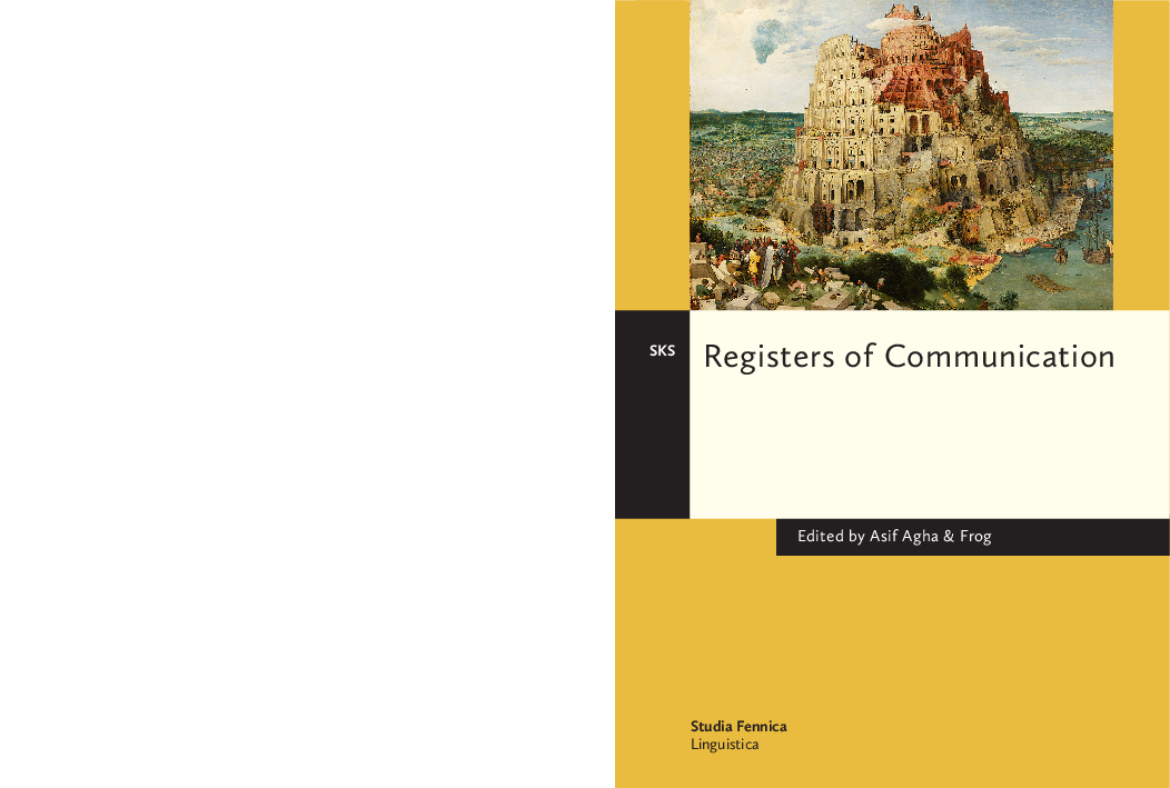 PDF) Registers of Communication (ed  Asif Agha & Frog) | Mr