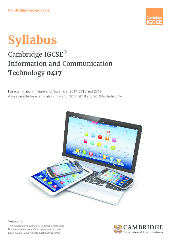 PDF) Cambridge Secondary 2 Syllabus Cambridge IGCSE