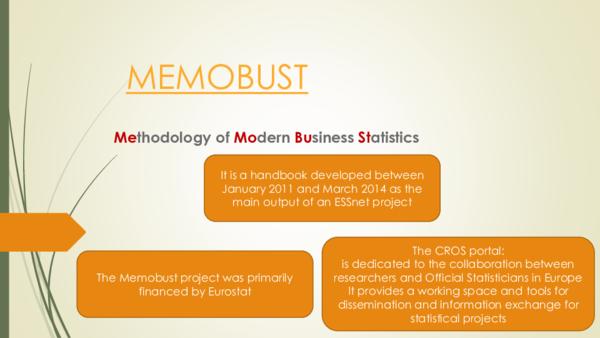 PDF) MEMOBUST Methodology of Modern Business Statistics