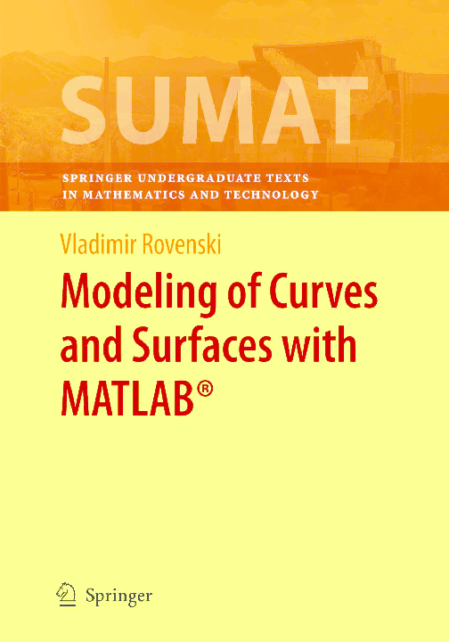 PDF) Modeling of Curves and Surfaces with MATLAB | Gonzalo