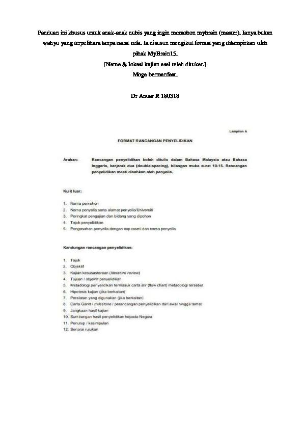 Pdf Contoh Kertas Kerja Cadangan Penyelidikan Dr Mohd Anuar Ramli Academia Edu