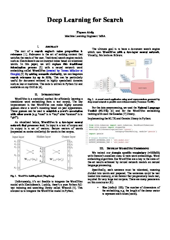 PDF) Deep Learning for Search | Franco Arda - Academia edu