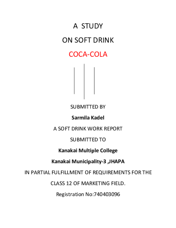 DOC) RAJESH COCA COLA | SubAsh Grg - Academia edu