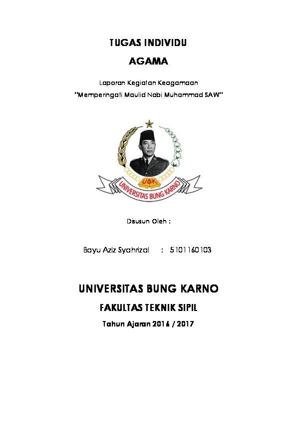 Doc Contoh Laporan Kegiatan Keagamaan Baiu Aziz Syahrizal Academia Edu