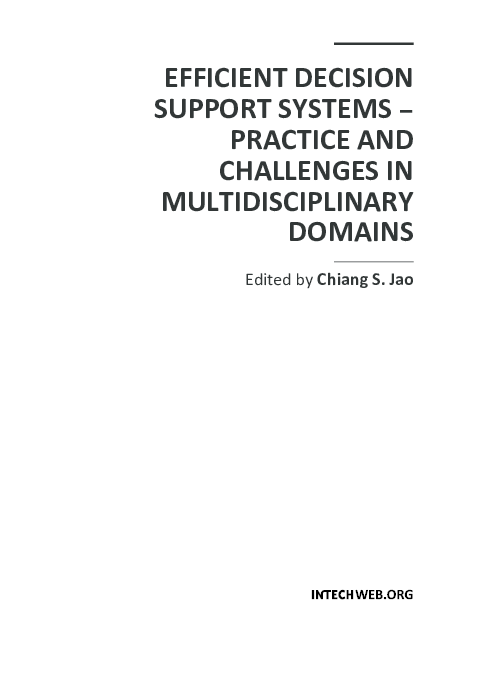 PDF) EFFICIENT DECISION SUPPORT SYSTEMS – PRACTICE AND CHALLENGES IN