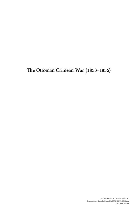 PDF) The Ottoman Crimean War | Candan Badem - Academia edu
