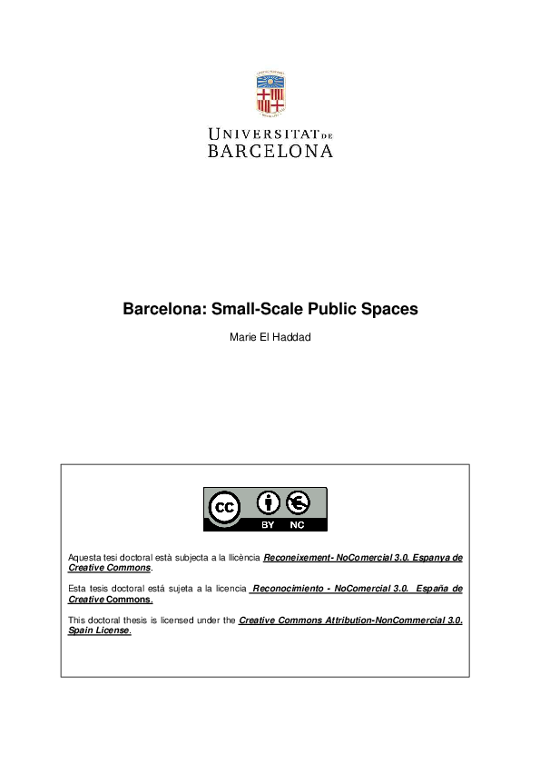 a28bf567b6fa5 PDF) Barcelona  Small-Scale Public Spaces