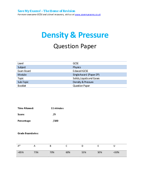 PDF) Save My Exams! – The Home of Revision Density