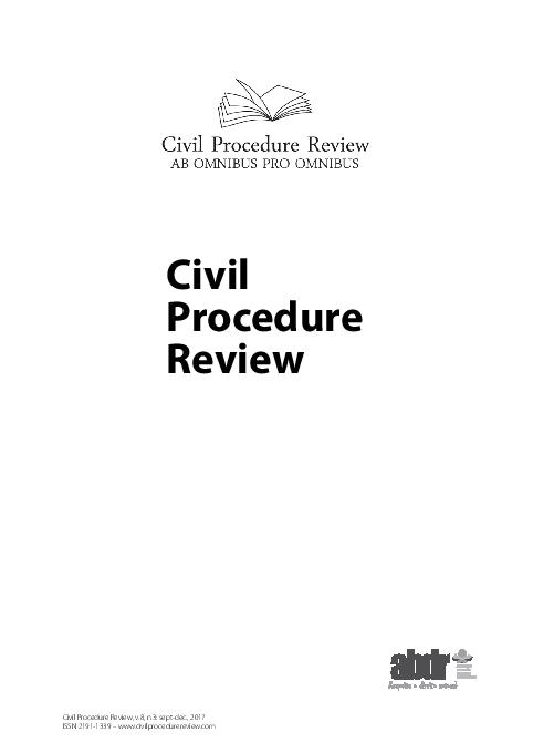 Pdf Civil Procedure Review Antonio Cabral And Paula Sarno