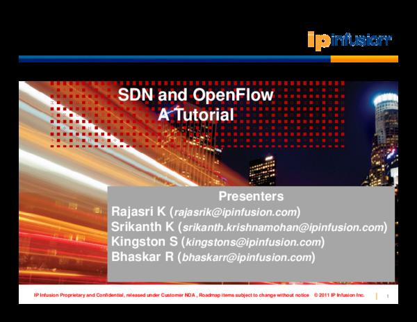 PDF) SDN and OpenFlow A Tutorial | Neha Singh - Academia edu