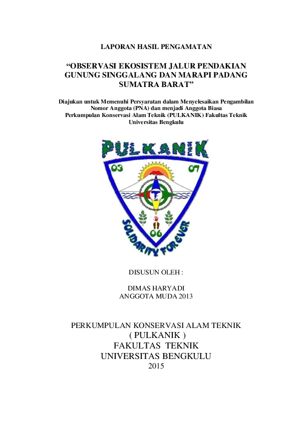 Doc Laporan Hasil Pengamatan Docx Baiq Dimas Haryadi Academia Edu