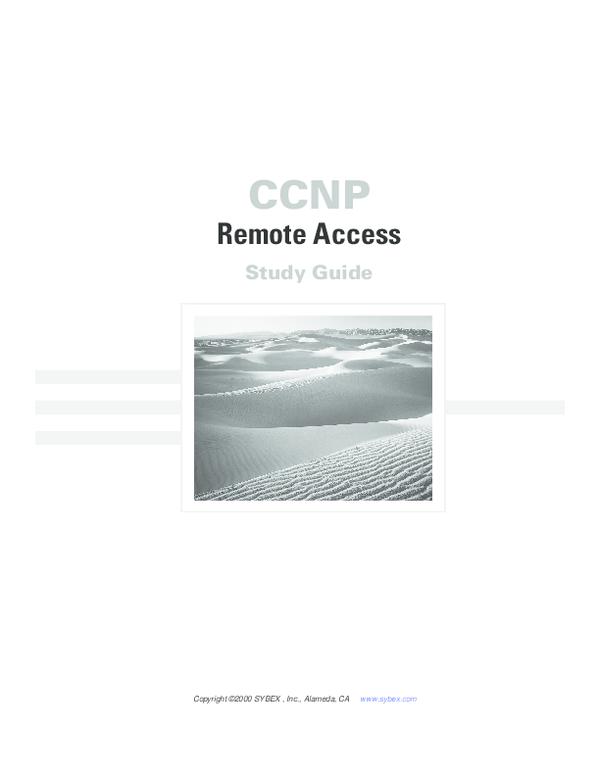 PDF) CCNP Remote Access Study Guide.pdf | Bao Doan - Academia.edu