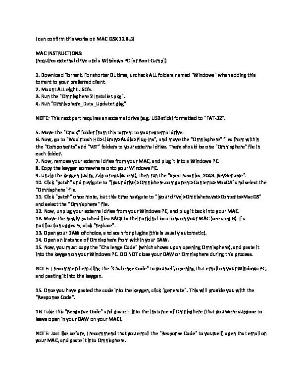 omnisphere 2 keygen for mac